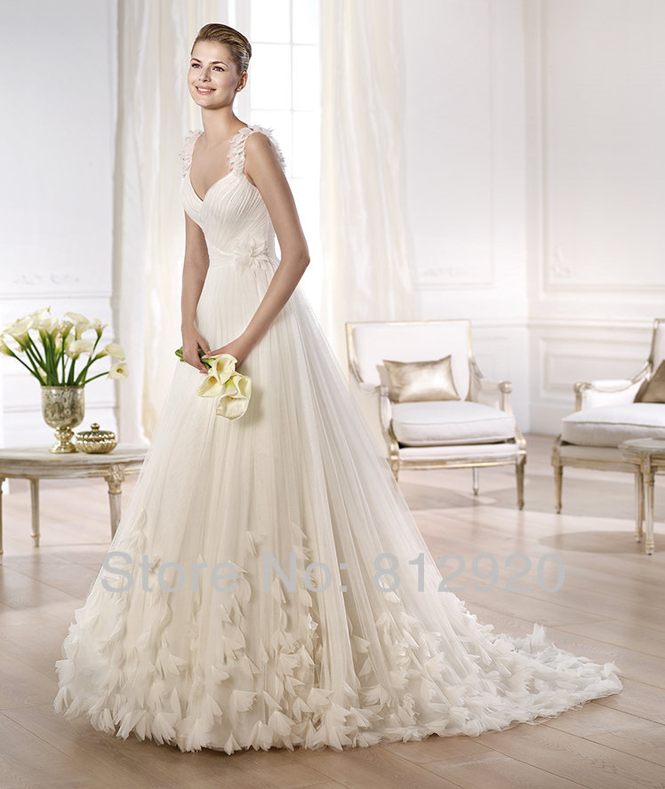 Wedding Dress With Rosette Skirt Other Dressesdressesss - Rosette Wedding Dress
