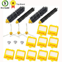 Replacement Part Kit For Roomba Bristle Brush Flexbile Beater Side Brush Hepa Filter For Irobot Roomba