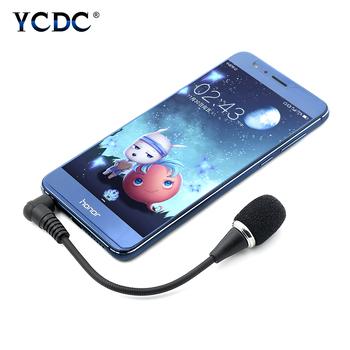 Czarny mikrofon mobilny Mini mikrofon przenośny 3 5mm Studio nagrań Stereo Laptop Skype Yahoo VoIP dla mikrofonu studyjnego tanie i dobre opinie YCDC Mikrofon na gęsiej szyi Mikrofon pojemnościowy Other Pojedyncze Mikrofon CN (pochodzenie) Dwukierunkowy Rysunek-8
