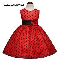 Lcjmmo結婚式パーティー女の子ドットドレス2017子供花サッシ王女服マルチカラーチュチュドレス十代の少女服
