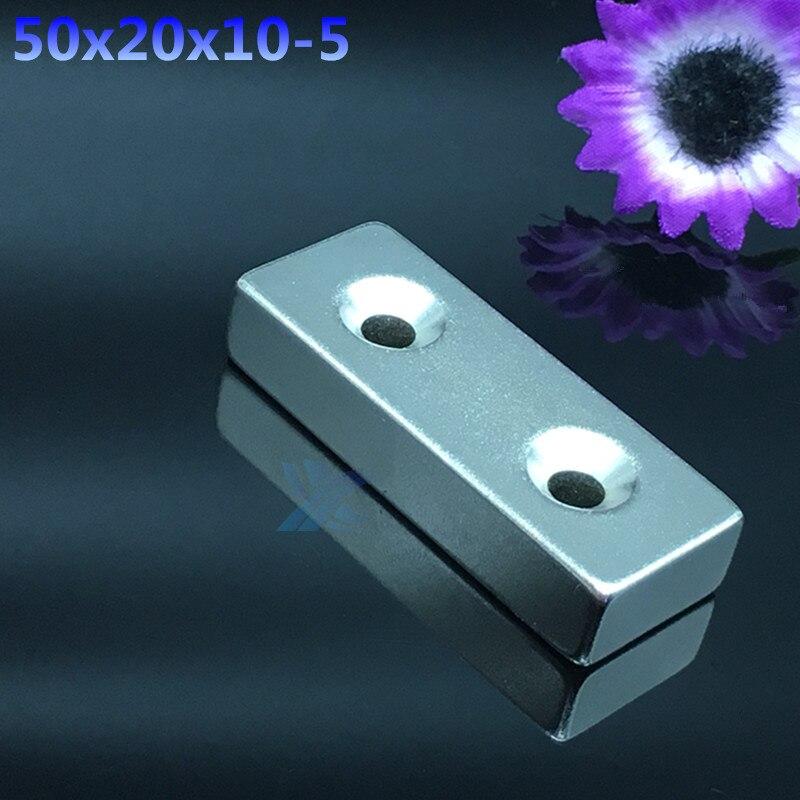 Free Shipping 1pcs N35 50x20x10 mm Block magnet Powerful Neodymium Magnet 50*20*10 DIY Cuboid Rare Earth Magnet 80x60x7 block magnet 80x60x17mm with hole magnet n48 magnet permanet block powerfull magnet free shipping