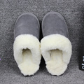 Natural Sheepskin Home Slippers Women Fur Slippers Mens Winter Indoor Slipper Luxury Furry Lovers House Slippers Big Size 35-44