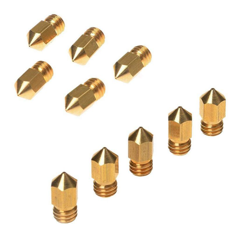 Image 2 - 10PCS 0.4mm MK8 Extruder Nozzle /3D Printer Nozzle for 3D Printer CR 10 CR 10S S4-in 3D Printer Parts & Accessories from Computer & Office
