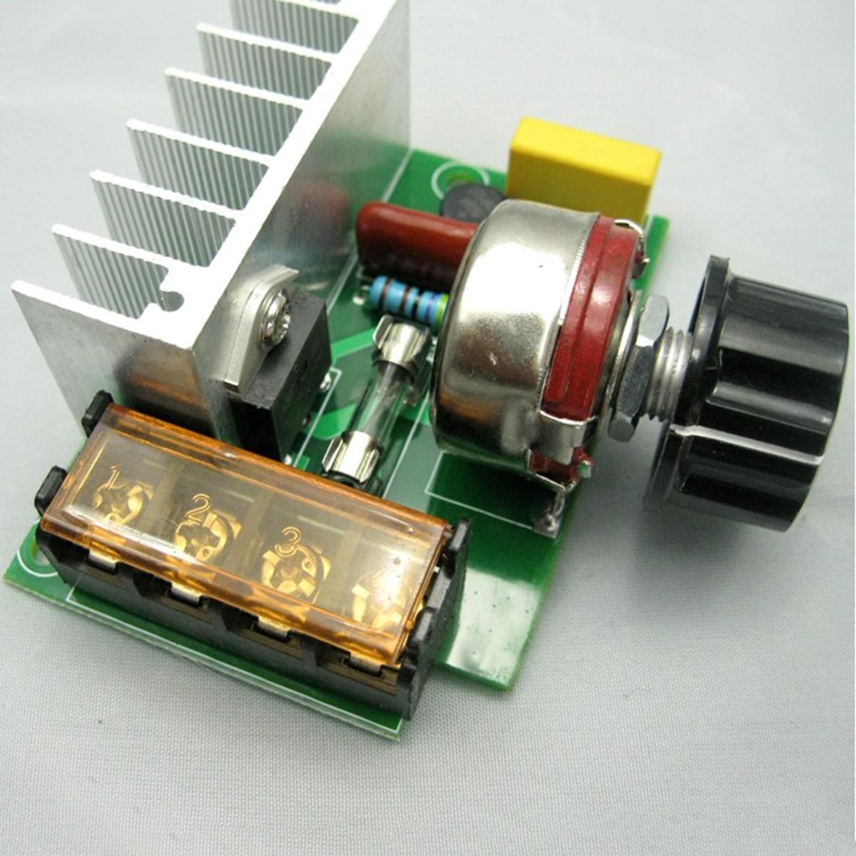 1Pc AC Regulator 4000W 220V AC SCR  Motor Speed Controller Module Voltage Regulator Dimmer For Water Heater Mayitr