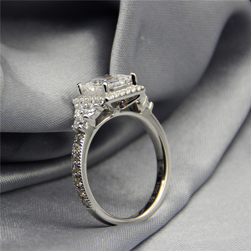 Aliexpresscom Buy 2 Carat Diamond Ring Setting Princess Cut