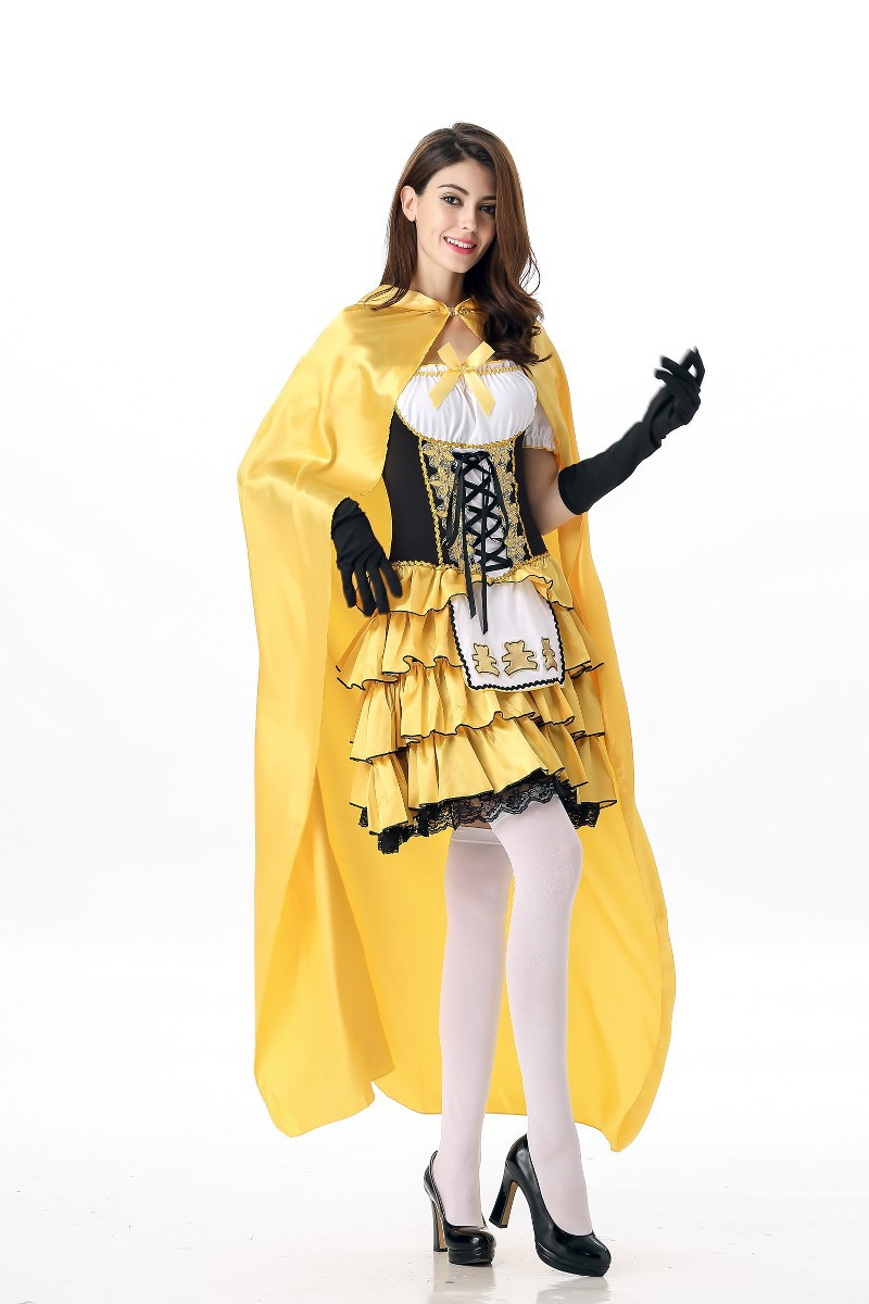 Adult Goldilocks Costume Ladies Fairy Tale Book Week Day Fancy Dress Outfit