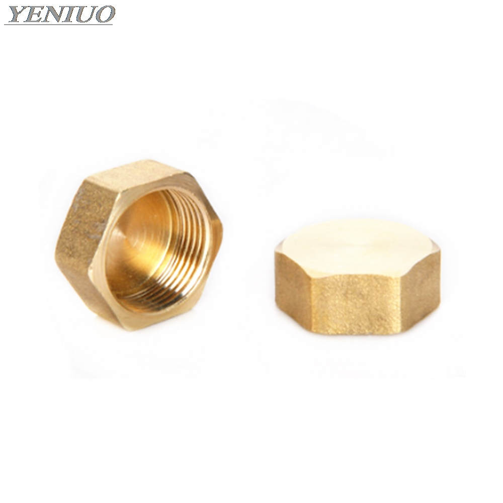 """1/8"""" 1/4"""" 3/8"""" 1/2"""" 3/4""""BSP Female Thread Brass Pipe Hex Head Brass End Cap Plug Fitting Coupler Connector Adapter"""