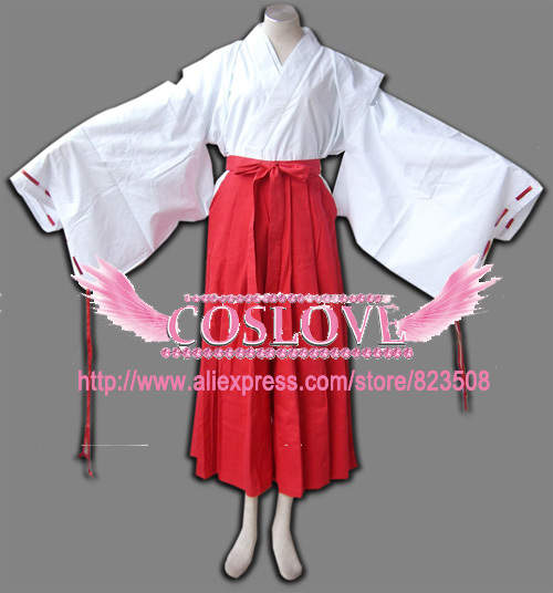 5c8525d01eb placeholder High Quality Custom Made Kikyo Cosplay Costume from Inuyasha  Anime Christmas Holloween Plus Size (S