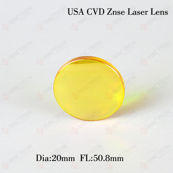 Dia 20MM USA CO2 Laser Focus Lens (USA CVD ZnSe Materials Dia.20mm, FL.50.8mm) mo materials co2 laser lens mirrors 20mm diameter 95% reflecting rate