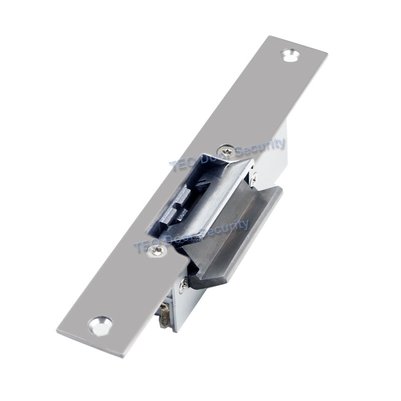 Fail Safe Electric Strike Suitable for Glass Door without Frame Locked when Energized Narrow Type Door Lock 500KG Holding Force