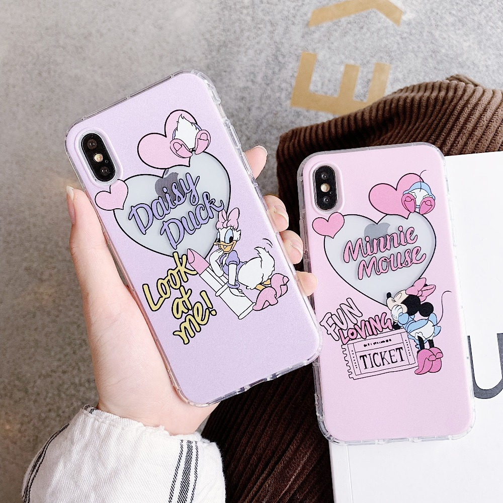 Lovely Donald Duck Daisy Dream Clear Soft TPU Silicone Cover Case For iPhone XS Max XR X 6 6S 7 8 Plus
