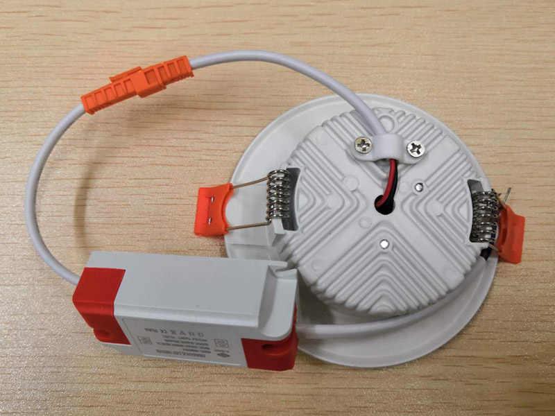 Светодиодный светильник с регулируемой яркостью 3 Вт 5 Вт 7 Вт 9 Вт 12 Вт круглый встраиваемый светильник 220 В 110 В светодиодный светильник для спальни кухни в помещении Светодиодный точечный светильник