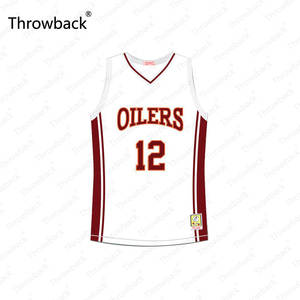 526ff31b484 Damien Carter #12 Richmond Oilers Away Throwback Movie Basketball Jersey  Stitched S-4XL