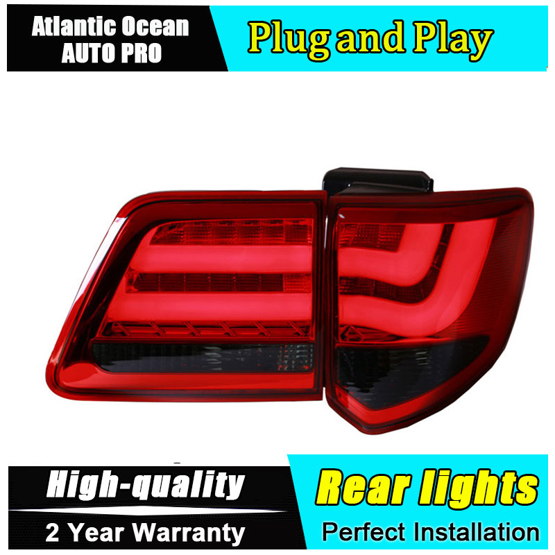 Car Styling for Toyota FORTUNER Taillights 2012-2015 New FORTUNER LED Tail Lamp Altis Rear Lamp Fog Light For 1Pair ,4PCS for toyota corolla altis led tail light 2011 2012 year smoke black color yzv2