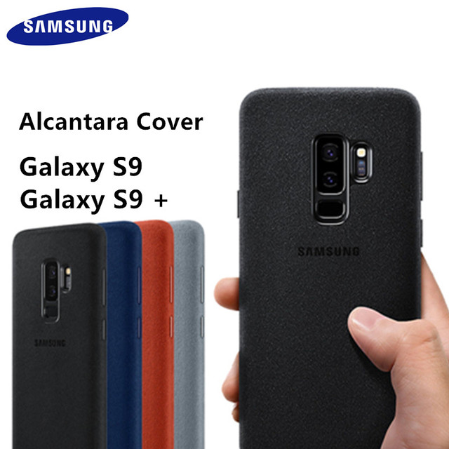 official photos 2c78a 8c7b4 US $12.89 48% OFF|Original Official Samsung Galaxy S9 S9 Plus S9 + EF  XG9650 9500 Luxury Leather Alcantara Case Suede Full protection Phone  Cover-in ...