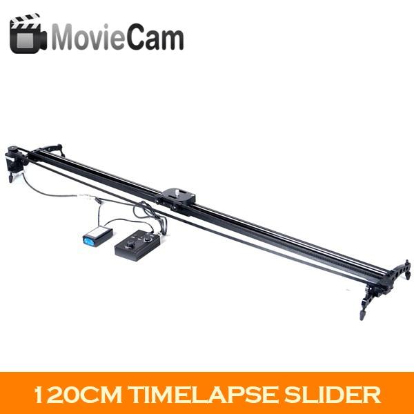 120cm Commlite ComStar Electronic Motorized Slider Dskr Camera Electric Timelapse Slider Dolly Track Video Stabilizer