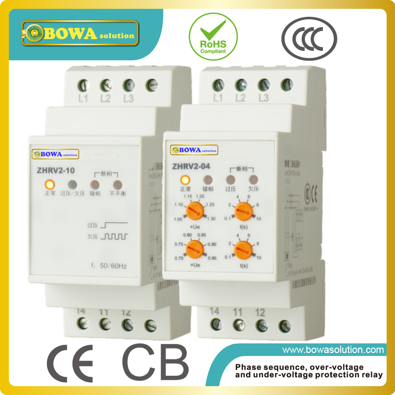 Voltage monitoring relay ZHRV2-01 or 02 protect over-voltage, under voltage, phase failure, phase sequence and phase imbalance voltage monitoring relay zhrv3 08 to 11