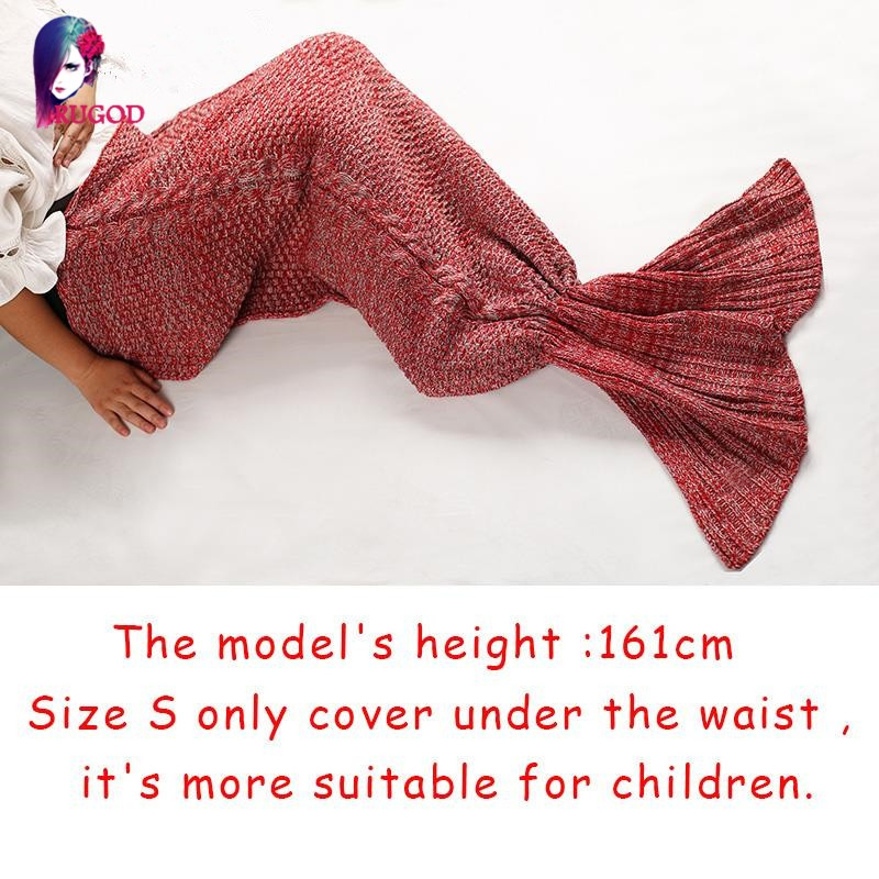 Simplee-Warm-knitted-mermaid-blanket-Princess-fish-tail-kids-adult-sofa-sleeping-bag-Autumn-soft-handmake