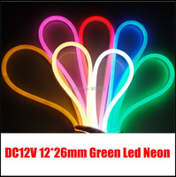 10M Lot Green Led Neon Flex For Outdoor Light Solution DC12V Neon Flex Strip For Channel