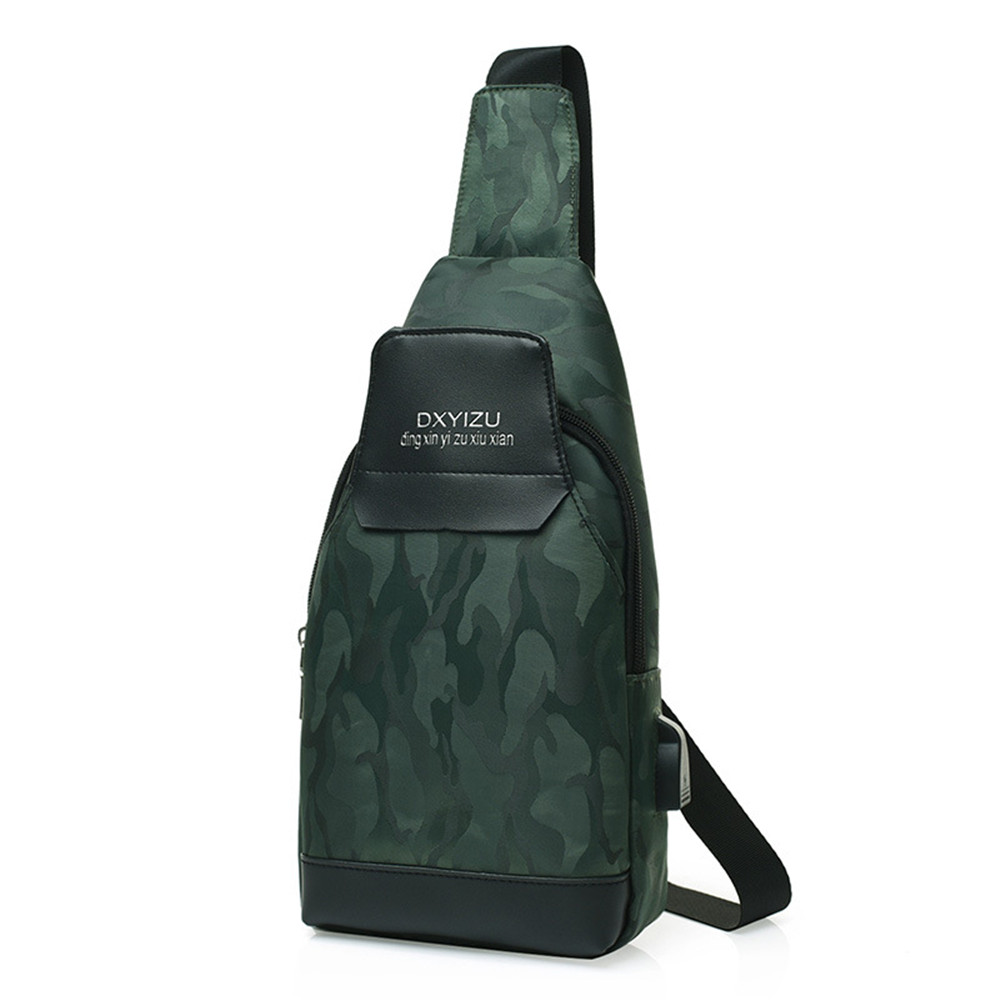 Fashion New Arrival Messenger Pack Camouflage Cool Steet Shoulder Bags Hot Sale USB Charging Crossbody Packs Novelty Waterproof