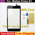 New Original G1 Touch screen  For  Walton Primo G1 Touch Screen digitizer front glass External screen Black + Tool+Free Shipping