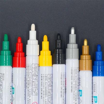 цена на 8 Colors Waterproof Oil Paint Marker Glass/Metal/Tyre Marker Graffiti Permanent Marker Pen