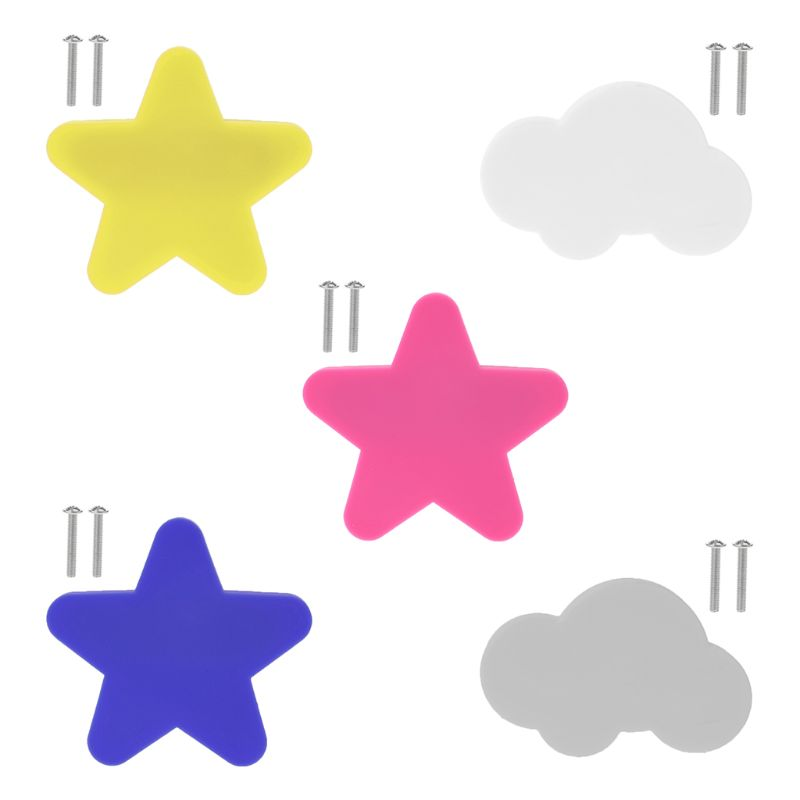 Child Protection New Children Cartoon Handle Star Cloud Shape For Door Cabinet Drawer Anti-collision Grip Handles