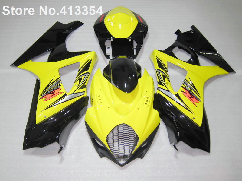 Vendita calda carenature per Suzuki GSXR 1000 07 08 giallo nero moto kit carena GSXR1000 2007 2008 RY29