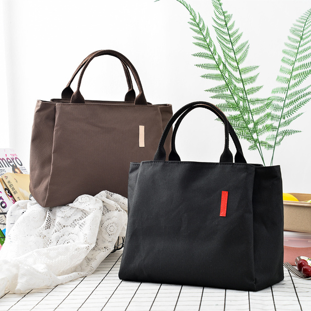 Black Coffee Cooler Bag Multi Functional Handbags Insulated Shoulder Ice Pack Thermal Lunch Picnic Cool