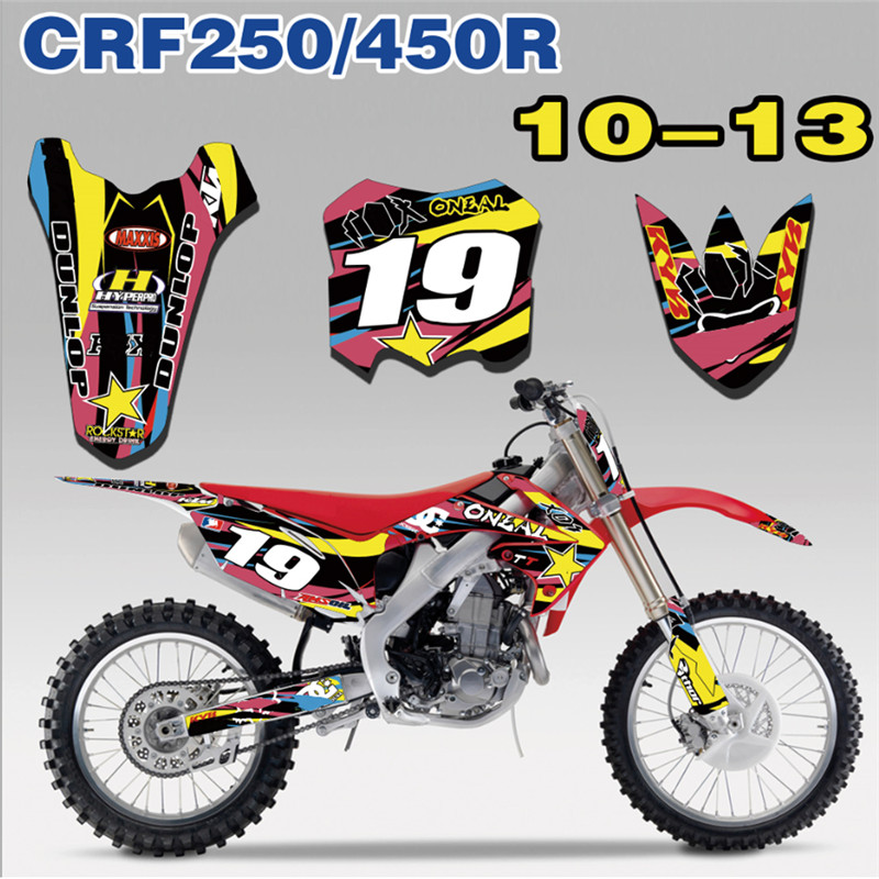 Us 50 93 8 Off 2010 2011 Crf250r Crf450r 2012 2013 Motorcycle Motocross Graphics Kit Decals Stickers For Honda Dirt Pit Bike Crf 250r 450r In Decals