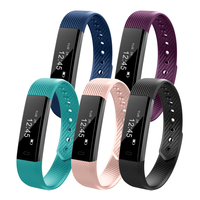 ID115HR Waterproof Bluetooth4.0 Smart Wristband Bracelet Heart Rate Monitor Smart Bracelet with Camera Remote Function