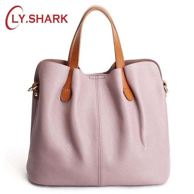 LY.SHARK Naiste ehtne nahast kott Naised Messenger Kotid Käekotid Naised Kuulsad kaubamärgid Naiste kottide kottide õlakott Pink