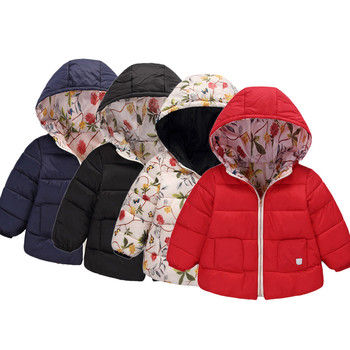 b1da29b52aba5 2019 Hot Sale Kids Baby Girl Boy Winter Hooded Coat Floral Jacket