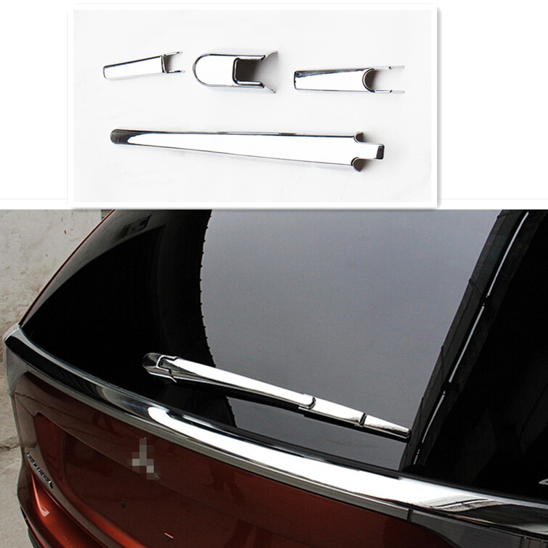 Car Accesscories ABS Chrome Rear Window Wiper Arm Blade Cover Trim Molding Fit For Mitsubishi <font><b>Outlander</b></font> 2013 2014 2015 <font><b>2016</b></font> image