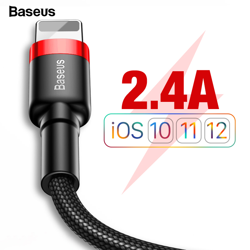 Baseus USB Cable For iPhone XS Max XR X 8 7 6 6s Plus 5 5S SE iPad Mini Fast Charging Charger Data Wire Cord Mobile Phone Cables(China)