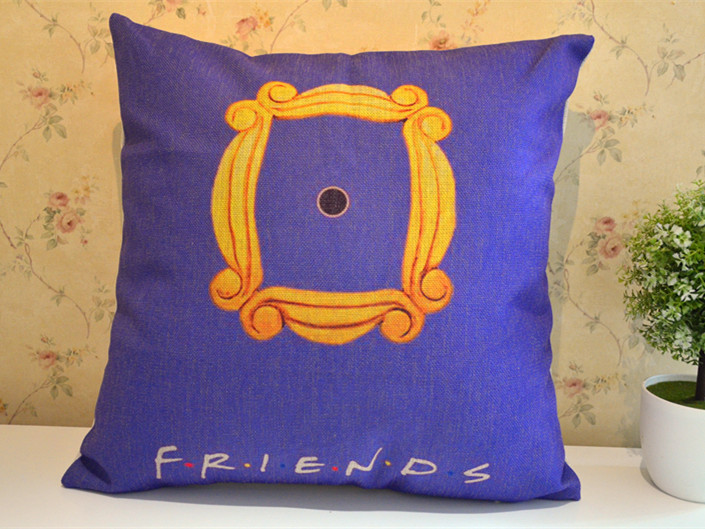 aliexpresscom buy friends tv show yellow frame pillow from reliable pillow design suppliers on cabbage manor