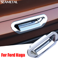 For Ford Kuga Escape 2013 2014 2015 2016 2017 Car Tailgate Handle Bowl Covers ABS Chrome Trim External Decoration Accessories