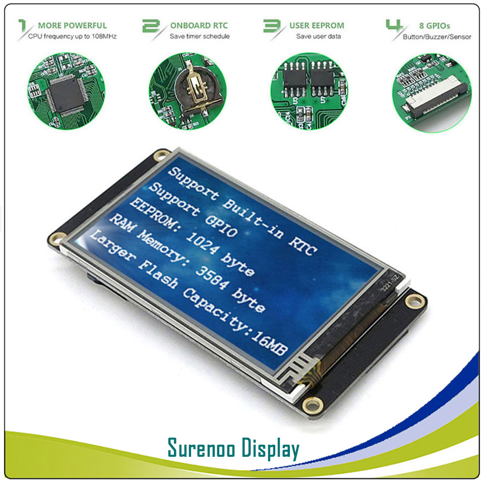 """Image 3 - 3.2"""" NX4024K032 Nextion Enhanced HMI USART UART Serial Resistive Touch TFT LCD Module Display Panel for Arduino Raspberry Pi-in LCD Modules from Electronic Components & Supplies"""