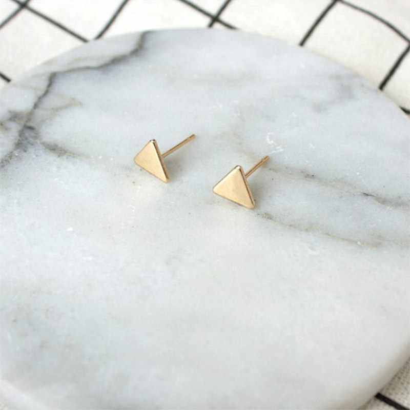 2019 Simple Earrings Mini Triangle Earrings for Women Gift Geometric Punk Temperament Stud Earrings Fashion Jewelry Wholesale