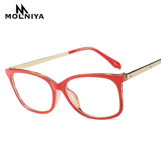 1659a38a6c4 MOLNIYA Fashion Computer Goggles Reading Eyeglasses Optical Glasses Frames  Glasses Women Square Ultra Light Frame Clear