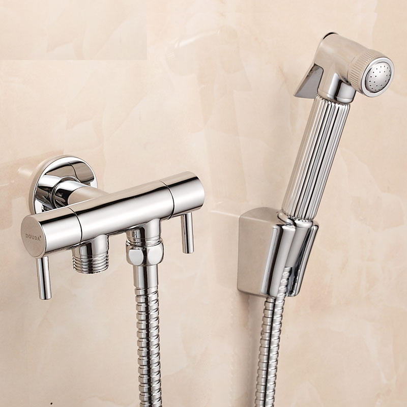 Sanitary ware brass bidet faucets toilet dual usage spray gun set-in ...