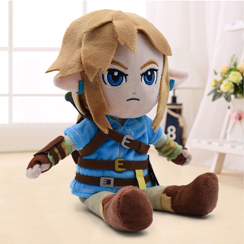 New Arrival 27cm Zelda Plush Toys Cartoon Link Boy With Sword Soft Stuffed Doll For Kids Best Gift