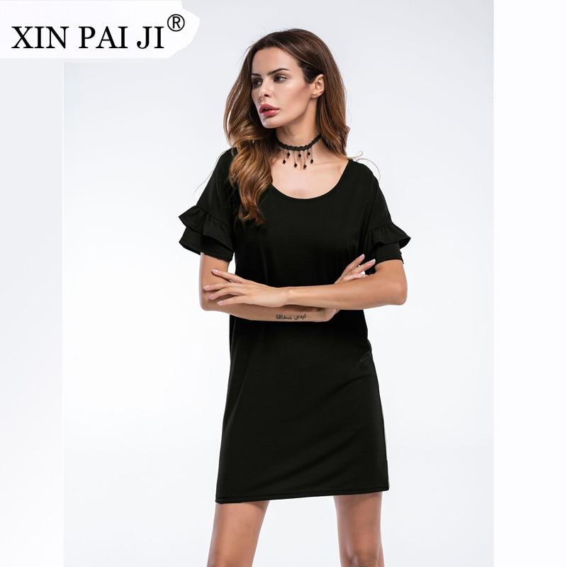 XIN PAI JI 2017 Vestido de verano de mujer de moda con volantes de - Ropa de mujer