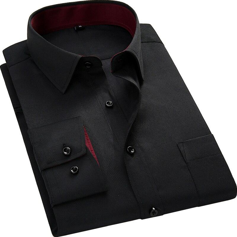 Männer langärmeliges hemd slim fit stil design einfarbig business - Herrenbekleidung - Foto 5