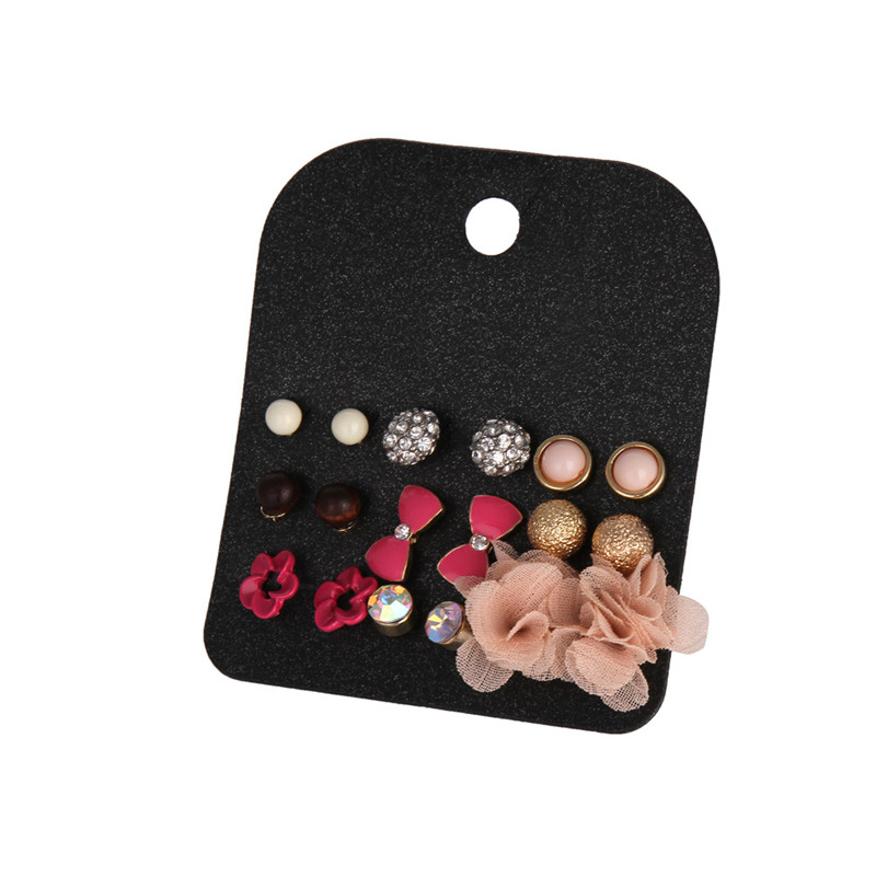 Wholesale 2016 New Chirstmas Earring Women Cartoon Jewelry Classic Claires Crystal Ball Stud Earrings Set For Girls Gift Fashion