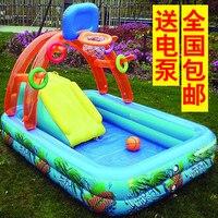 多機能城-形状インフレータブルパドルプール/スイミングプール製の子供のための無毒高密度タフpvc/プレイプール