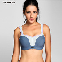 SYROKAN Women S High Impact Maximum Support Molded Cups Underwire Sports Bra