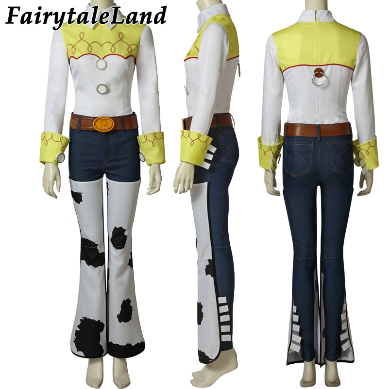 Halloween cosplay Party Toy Story Cowgirl Jessie Cowboy Woody Costume suit Mascot Hat Cosplay Props Full outfits custom made