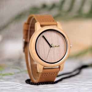 Image 4 - Bobo Vogel Bamboe Houten Horloges Mannen Japan Quartz Horloge Voor Mannelijke Graveren Pointer Logo Laser Aangepaste Dropshipping