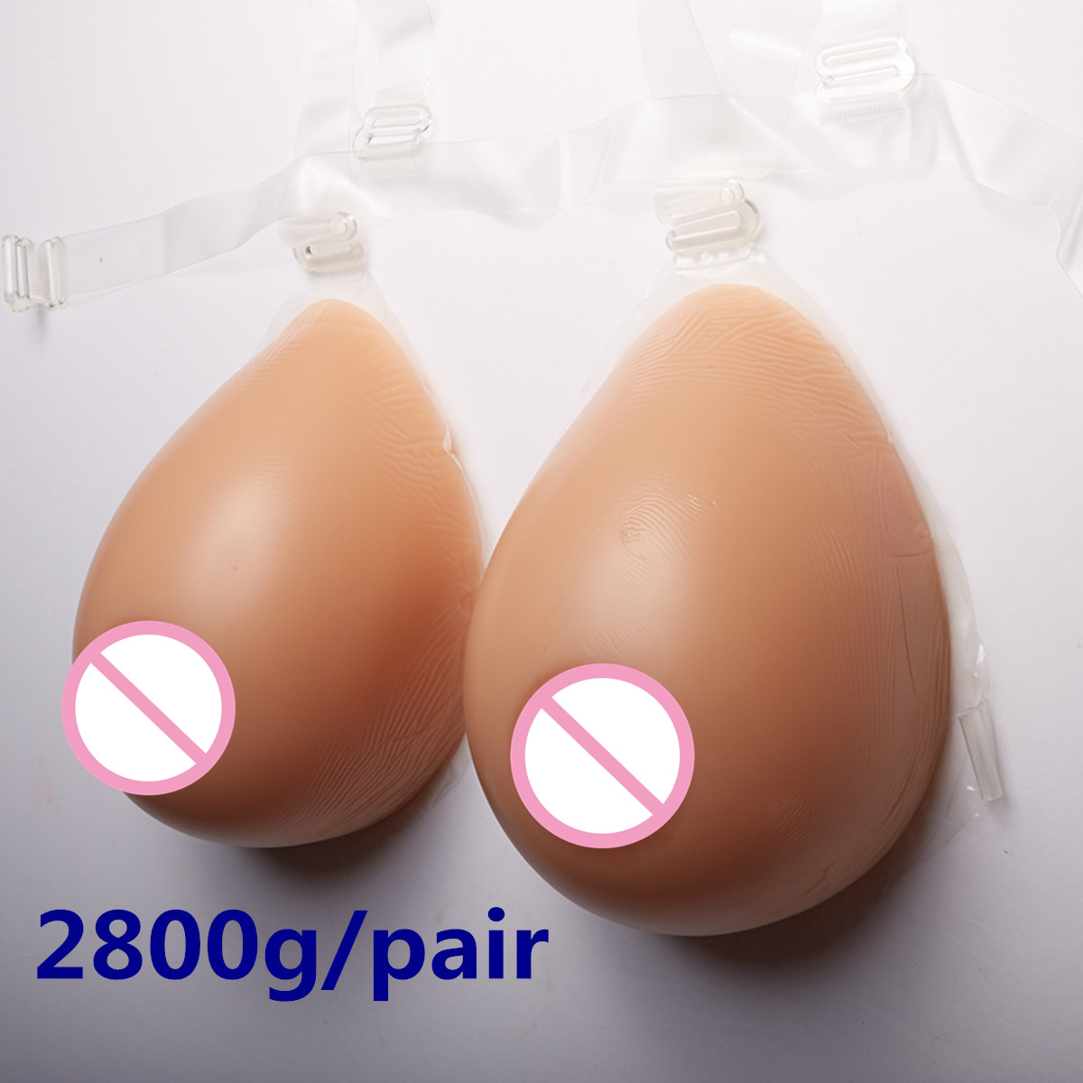 Crossdresser Breast 2800g/pair Silicone Realistic Boobs Fake Breast Full Breast